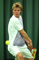 10-3-06, Netherlands, tennis, Rotterdam, National indoor junior tennis championchips, Roel Oostdam