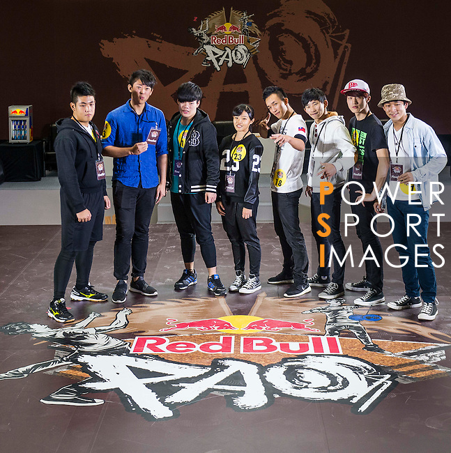 Athletes poses for a group photo prior the Red Bull PAO 2015 at the National Taiwan Science Education Centre in Taipei, Taiwan. Photo by Aitor Alcalde / Power Sport Images