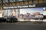Urban re-branding adverts, Hull, Yorkshire, England 'Welcome to the new Hull'