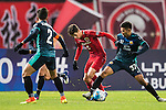 Oscar dos Santos Emboaba Junior of Shanghai SIPG FC fights for the ball with Weerasak Gayasit of Sukhothai FC during their AFC Champions League 2017 Playoff Stage match between Shanghai SIPG FC (CHN) and Sukhothai FC (THA) at the Shanghai Stadium, on 07 February 2017 in Shanghai, China. Photo by Marcio Rodrigo Machado / Power Sport Images