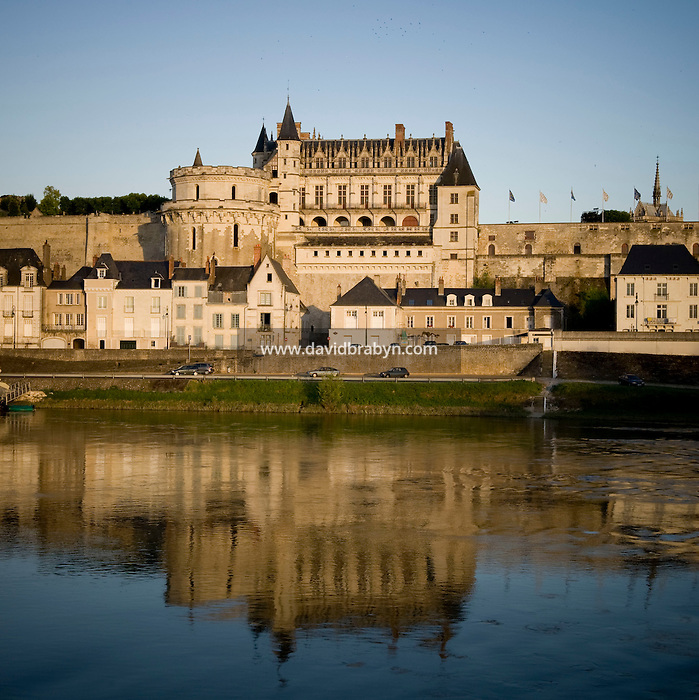View of the Amboise castle and the Loire river in France, 26 June 2008.