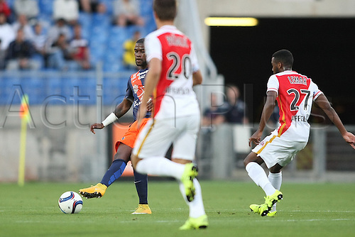 24.09.2015. Montpelier, France. French League 1 football. Montpellier versus AS Monaco.  Yatabare (mhsc) gets his shot on goal