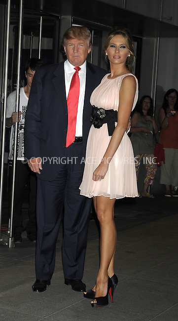 "WWW.ACEPIXS.COM . . . . .  ....August 19 2009, New York City....Donald Trump and Melania Trump arriving at the premiere of ""The September Issue"" at The Museum of Modern Art on August 19, 2009 in New York City.....Please byline: AJ Sokalner - ACEPIXS.COM..... *** ***..Ace Pictures, Inc:  ..tel: (212) 243 8787..e-mail: info@acepixs.com..web: http://www.acepixs.com"