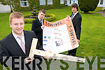 Pictured at the Young Entrepreneur Awards in the Malton Hotel on Thursday evening, from left: Tim Dennehy, Ryan Dowling and Max Goreansky from CBS The Green with their project T-Swivel - a collapsible T Square..