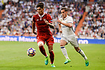 Real Madrid's Lucas Vazquez and Sevilla FC Carlos Joaquin Correa during La Liga match between Real Madrid and Sevilla FC at Santiago Bernabeu Stadium in Madrid, May 14, 2017. Spain.<br /> (ALTERPHOTOS/BorjaB.Hojas)