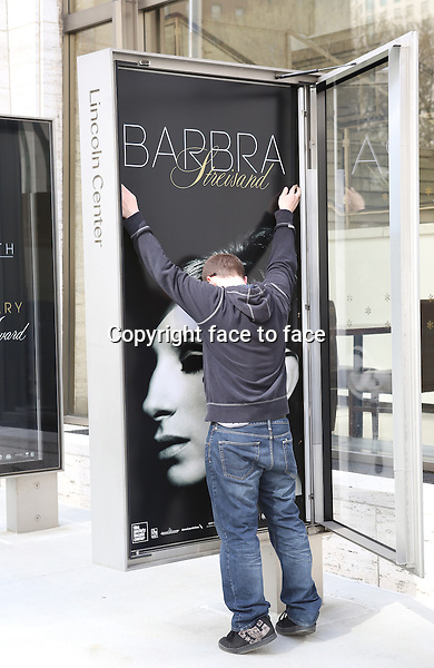 Preparing the Atmosphere for the 40th Annual Chaplin Award Gala Honoring Barbra Streisand at Avery Fisher Hall in New York City on 4/22/2013...Credit: McBride/face to face