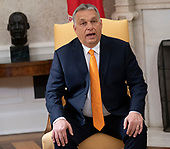 Prime Minister Viktor Orban of Hungary as he meets with United States President Donald J. Trump in the Oval Office of the White House in Washington, DC on Monday, May 13, 2019.  The two leaders will meet for about an hour.<br /> Credit: Chris Kleponis / Pool via CNP