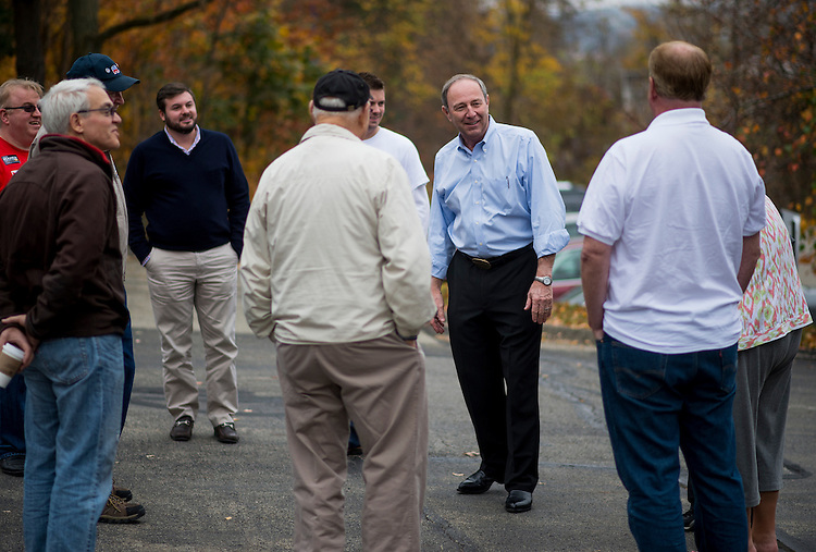 UNITED STATES - OCTOBER 27: Republican candidate for U.S. Senate from Pennsylvania, Tom Smith speaks to supporters at the Peters Township Victory Center in McMurray, Pa., on Saturday, Oct. 27. 2012. Smith is running against Sen.Bob Casey, D-Pa. (Photo By Bill Clark/CQ Roll Call)