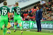 5th October 2017, Wembley Stadium, London, England; FIFA World Cup Qualification, England versus Slovenia; England Manager Gareth Southgate shuts his eyes as Slovenia counter-attack