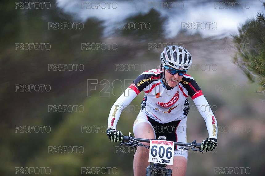 Chelva, SPAIN - MARCH 6: Katrin Leumann during Spanish Open BTT XCO on March 6, 2016 in Chelva, Spain
