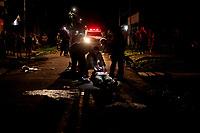 Belem. Pará. Brasil. Policia. Chanina Tapanã. 8 mortos e 3 feridos no conjunto Tapanã. Todos os crimes com a mesma caracteristica, jovens mortos entre as idades de 18 a 23 anos, com tiros na cabeça e a queima roupa, por 4 homens em 2 motos que tinham o apoio de um carro branco. 27-10-18. Maycon Nunes/Diário do Pará