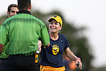 09 September 2016: WVU head coach Nikki Izzo-Brown. The Duke University Blue Devils hosted the West Virginia University Mountaineers at Koskinen Stadium in Durham, North Carolina in a 2016 NCAA Division I Women's Soccer match. West Virginia won the match 3-1.