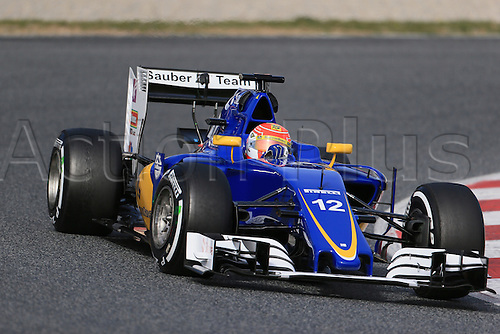 03.03.2016. Barcelona, Spain. Formula 1 Winter Testing at Circuit de Barcelona Catalunya Test 2 Day 3.  Sauber F1 Team C35 – Felipe Nasr