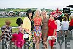 l-r  Sandra Lynch, Emer McCarthy, Lisa Balmer and Aishling McCarthy from Listowel  enjoying the Listowel Races Ladies Day on Sunday.