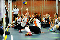 ASSEN - Volleybal, Internationaal zitvolleybal toernooi, Nederland - Rusland, 01-07-2017,  set up van Paula List