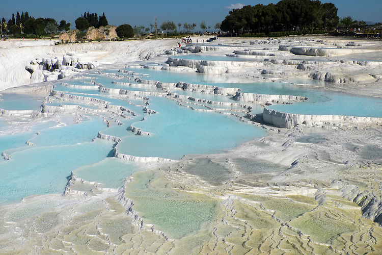 The ancient Greeks and Romans considered the thermal springs of Hierapolis sacred.