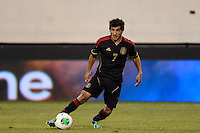 Mexico forward Damian Alvarez (7). Mexico defeated the Ivory Coast 4-1 during an international friendly at MetLife Stadium in East Rutherford, NJ, on August 14, 2013.