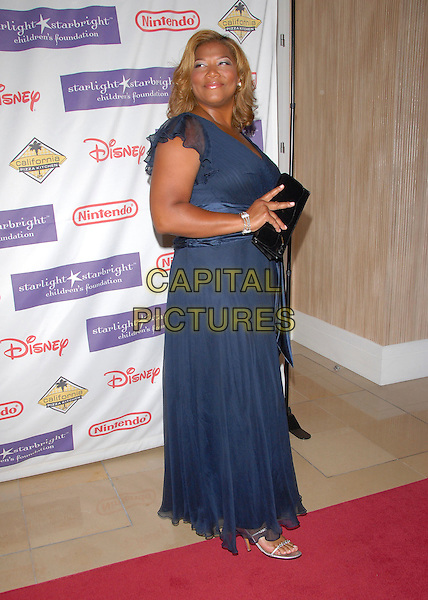 QUEEN LATIFAH.At the 2007 Starlight Starbright Children's Foundation Gala held at the Beverly Hilton Hotel in Beverly Hills, California, USA, March 23 2007..full length blue dress.CAP/DVS.©Debbie VanStory/Capital Pictures