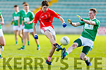 Sean O'Keeffe East Kerry in action Against Ryan Maguire St Kierans in the Minor County Football Championship Final on Sunday.