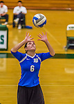 1 November 2015: Yeshiva University Maccabee Setter and Defensive Specialist Yael Ghelman, a Sophomore from Houston, TX, warms up prior to a match against the Saint Joseph College Bears at SUNY Old Westbury in Old Westbury, NY. The Bears shut out the Maccabees 3-0 in NCAA women's volleyball, Skyline Conference play. Mandatory Credit: Ed Wolfstein Photo *** RAW (NEF) Image File Available ***