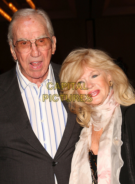 ED McMAHON & CONNIE STEVENS.Keeping The Promise to our Vietnam Veteran's Heroes held at The LAX Sharaton Hotel, Los Angeles, California, USA..November 7th, 2008.half length black suit jacket white shirt glasses tinted scarf .CAP/ADM/KB.©Kevan Brooks/AdMedia/Capital Pictures.