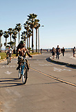 USA, Los Angeles, a view of the beach and the individuals on the Venice Boardwalk