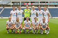 Bridgeview, IL - Sunday August 20, 2017: FC Kansas City Starting XI during a regular season National Women's Soccer League (NWSL) match between the Chicago Red Stars and FC Kansas City at Toyota Park. KC Kansas City won 3-1.