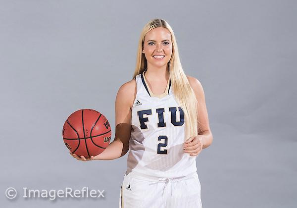 Florida International University women's basketball guard Jade Cheek (2) at picture day on October 14, 2015 at Miami, Florida.