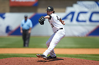 Wake Forest Demon Deacons relief pitcher Griffin Roberts (43) in action against the Miami Hurricanes in Game Nine of the 2017 ACC Baseball Championship at Louisville Slugger Field on May 26, 2017 in Louisville, Kentucky. The Hurricanes defeated the Demon Deacons 5-2. (Brian Westerholt/Four Seam Images)