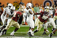 HOLDING.  Penn State defensive tackle E.Z. Smith and guard Charles Rush are caught holding Florida State's Andrew Fluellen (96) and Brodrick Bunkley (52) in the 2006 FedEx Orange Bowl Game.  Penn State got away without a penalty on this play.