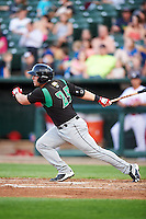 Dayton Dragons first baseman James Vasquez (25) during a game against the Peoria Chiefs on May 6, 2016 at Dozer Park in Peoria, Illinois.  Peoria defeated Dayton 5-0.  (Mike Janes/Four Seam Images)