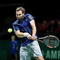 Februari 09, 2015, Netherlands, Rotterdam, Ahoy, ABN AMRO World Tennis Tournament, Ernest Gulbis (LAT)<br /> Photo: Tennisimages/Henk Koster