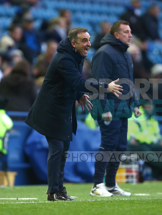 Sheffield Wednesday's manager, Carlos Carvalhal - Sheffield Wednesday vs Derby County - Skybet Championship - Hillsborough - Sheffield - 06/12/2015 Pic Philip Oldham/SportImage