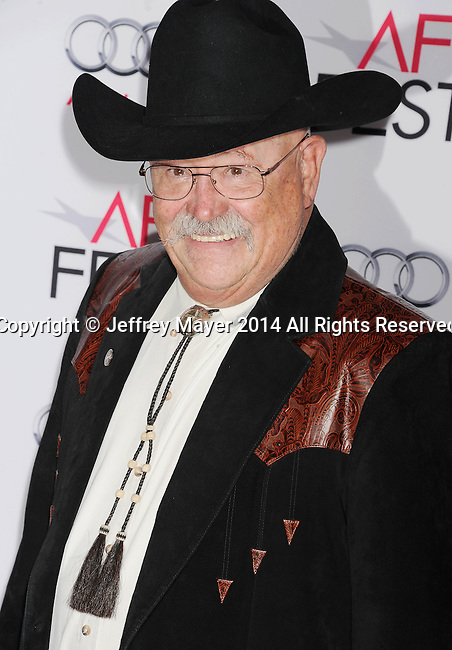 HOLLYWOOD, CA - NOVEMBER 11: Actor Barry Corbin attends the 'The Homesman' premiere during AFI FEST 2014 presented by Audi at the Dolby Theater on November 11, 2014 in Hollywood, California.