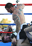 Joshua Turner defeated Zeth Martin in a mixed martial arts bout.  Photo by Tom Smedes.