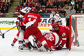Alexander Kerfoot (Harvard - 14), Mitch Vanderlaan (Cornell - 14), Mitch Gillam (Cornell - 32), Alec McCrea (Cornell - 29) - The Harvard University Crimson defeated the visiting Cornell University Big Red on Saturday, November 5, 2016, at the Bright-Landry Hockey Center in Boston, Massachusetts.