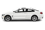 Car Driver side profile view of a 2019 BMW 4-Series 440i-M-Sport Door Coupe Side View