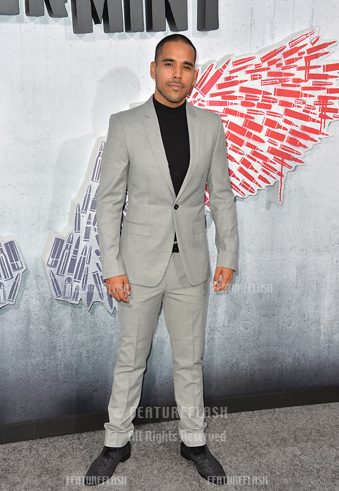 """LOS ANGELES, CA. August 28, 2018: Randy Gonzalez at the world premiere of """"Peppermint"""" at the Regal LA Live."""