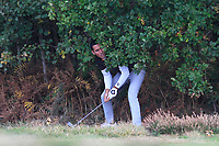 Carlos Pigem (ESP) in the rough on the 2nd during Round 3 of the Sky Sports British Masters at Walton Heath Golf Club in Tadworth, Surrey, England on Saturday 13th Oct 2018.<br /> Picture:  Thos Caffrey | Golffile