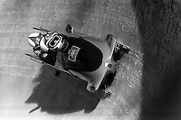 Pix:Michael Steele/SWpix...Bobsleigh, Cortina, Italy. 1988...COPYRIGHT PICTURE>>SIMON WILKINSON..Bobsleigh, Cortina, Italy.
