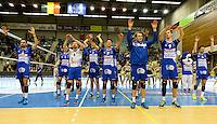 Knack Roeselare - Lindemans Aalst : vreugde bij Knack Roeselare na de 3-0 winst en de kwalificatie voor de bekerfinale <br /> Foto DAVID CATRY | VDB | Bart Vandenbroucke