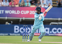 Joe Root (England) cuts backward of point during Australia vs England, ICC World Cup Semi-Final Cricket at Edgbaston Stadium on 11th July 2019