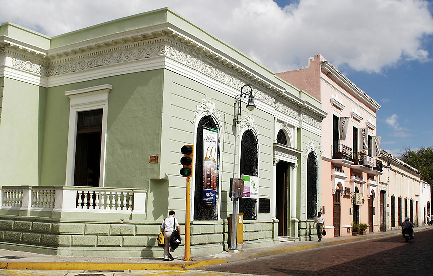 Merida's city center is known for its soft pastel colors.
