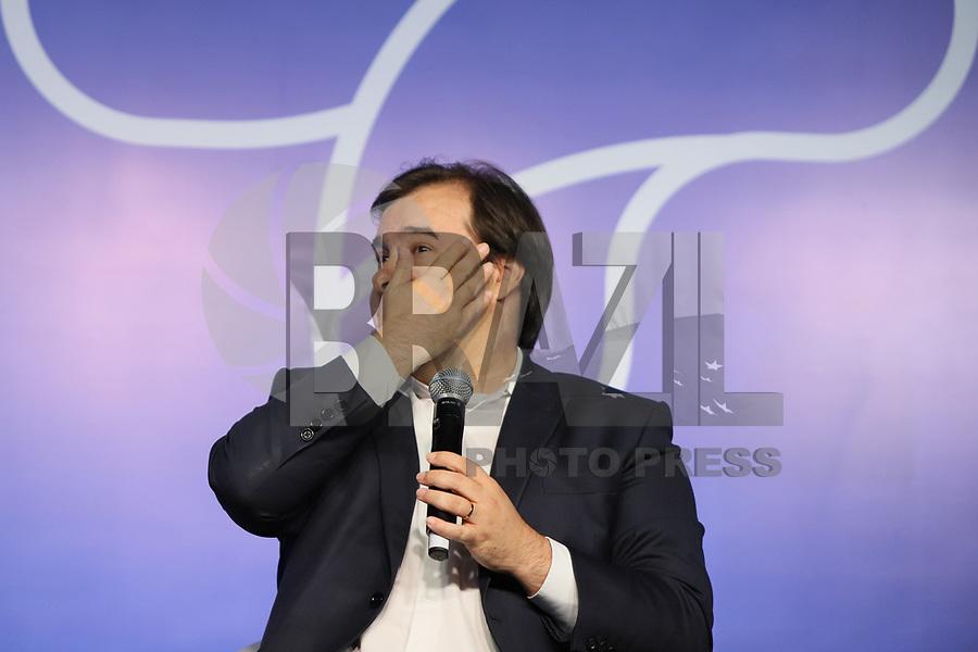SÃO PAULO, SP, 31.10.2019 - POLITICA-SP - Rodrigo Maia - Presidente da Câmara dos Deputados, participa da 2a edição do SindiMais, no Hotel Maksoud Plaza, em São Paulo, nesta quinta-feira, 31. (Foto Charles Sholl/Brazil Photo Press)
