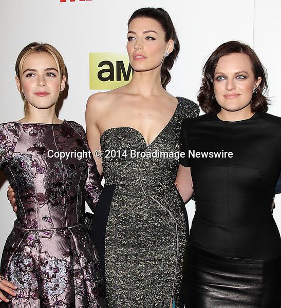 Pictured: Kiernan Shipka, Jessica Pare, Elisabeth Moss<br /> Mandatory Credit &copy; Frederick Taylor/Broadimage<br /> &quot;Mad Men&quot; Season 7 Premiere <br /> <br /> 4/2/14, Hollywood, California, United States of America<br /> <br /> Broadimage Newswire<br /> Los Angeles 1+  (310) 301-1027<br /> New York      1+  (646) 827-9134<br /> sales@broadimage.com<br /> http://www.broadimage.com