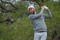 Chris Kirk (USA) watches his tee shot on 2 during Round 3 of the Valero Texas Open, AT&amp;T Oaks Course, TPC San Antonio, San Antonio, Texas, USA. 4/21/2018.<br /> Picture: Golffile   Ken Murray<br /> <br /> <br /> All photo usage must carry mandatory copyright credit (&copy; Golffile   Ken Murray)
