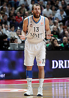 Real Madrid's Sergio Rodriguez during Euroleague 2012/2013 match.January 31,2013. (ALTERPHOTOS/Acero)