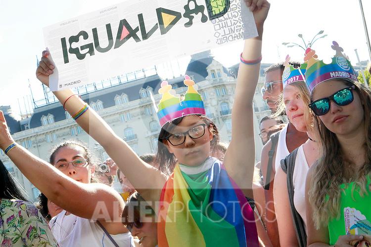 Demonstration of World Pride Madrid 2017. July 1, 2017. (ALTERPHOTOS/Acero)