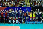 Team China during the FIVB Volleyball Nations League Hong Kong match between China and Italy on May 31, 2018 in Hong Kong, Hong Kong. Photo by Marcio Rodrigo Machado / Power Sport Images