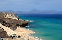 Restaurant/ bar on the the beach, Morro Jable, Fuerteventura, Canary Islands, Spain. May 2007.